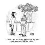 """I didn't put this in my personal ad, but I'm synonymous with Belgian cuis…"" - New Yorker Cartoon Premium Giclee Print by Victoria Roberts"