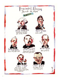 PRESIDENTIAL ALLERGIES THROUGH THE AGES: A HISTORY. - New Yorker Cartoon Premium Giclee Print by Barry Blitt
