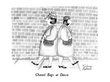 Chanel Bags at Dawn - New Yorker Cartoon Premium Giclee Print by Victoria Roberts