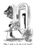 """May I speak to the kid of the house"" - New Yorker Cartoon Premium Giclee Print by Joseph Farris"