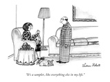"""It's a sampler, like everything else in my life."" - New Yorker Cartoon Premium Giclee Print by Victoria Roberts"
