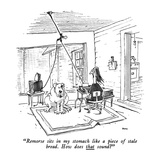 """Remorse sits in my stomach like a piece of stale bread.  How does that so…"" - New Yorker Cartoon Premium Giclee Print by George Booth"