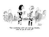 """Just wondering—after you steal my thunder, what do you do with it"" - New Yorker Cartoon Premium Giclee Print by Victoria Roberts"