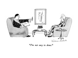 """I'm not easy to draw."" - New Yorker Cartoon Premium Giclee Print by Victoria Roberts"