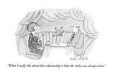 """What I really like about this relationship is that the italics are always…"" - New Yorker Cartoon Premium Giclee Print by Victoria Roberts"