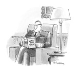 """An Army General reads a book entitled """"War and War."""" - New Yorker Cartoon Giclee Print by Mike Twohy"""
