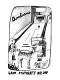 Lawn Statuary's Day Off - New Yorker Cartoon Premium Giclee Print by Stephanie Skalisky