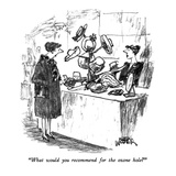 """""""What would you recommend for the ozone hole"""" - New Yorker Cartoon Giclee Print by Robert Weber"""