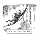 LAW OF THE JUNGLE - New Yorker Cartoon Giclee Print by Mike Twohy