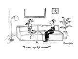 """I want my life catered."" - New Yorker Cartoon Premium Giclee Print by Victoria Roberts"