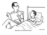 """Just give me the broad strokes."" - New Yorker Cartoon Premium Giclee Print by Alex Gregory"