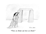 """There are Druids and there are Druids."" - New Yorker Cartoon Premium Giclee Print by Victoria Roberts"