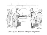 """Jim! Long time. Are you still making your own granola"" - New Yorker Cartoon Premium Giclee Print by Mike Twohy"