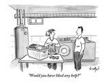 """Would you have liked any help"" - New Yorker Cartoon Premium Giclee Print by Robert Leighton"