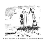 """I found the surfers on the West Coast to be intellectually flaccid."" - New Yorker Cartoon Giclee Print by Robert Weber"