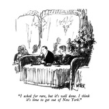 """I asked for rare, but it's well done.  I think it's time to get out of Ne…"" - New Yorker Cartoon Premium Giclee Print by Robert Weber"