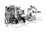 Street painters with cave painter. - New Yorker Cartoon Premium Giclee Print by Joseph Farris