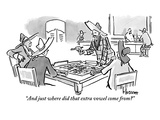 """And just where did that extra vowel come from"" - New Yorker Cartoon Premium Giclee Print by John Klossner"