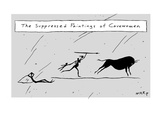 (The Suppressed Paintings of Cavewomen) - New Yorker Cartoon Premium Giclee Print by Kim Warp