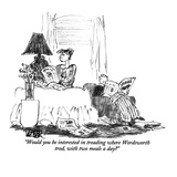 """""""Would you be interested in treading where Wordsworth trod, with two meals…"""" - New Yorker Cartoon Giclee Print by Robert Weber"""