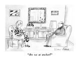 """Are we at anchor"" - New Yorker Cartoon Premium Giclee Print by Victoria Roberts"