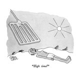 """High time!"" - New Yorker Cartoon Premium Giclee Print by Gahan Wilson"