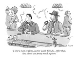 """I shot a man in Reno, just to watch him die.  After that, law school was …"" - New Yorker Cartoon Premium Giclee Print by Danny Shanahan"