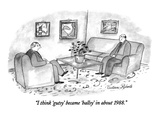 """I think 'gutsy' became 'ballsy' in about 1988."" - New Yorker Cartoon Premium Giclee Print by Victoria Roberts"