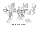 """""""You are where you eat."""" - New Yorker Cartoon Regular Giclee Print by Dean Vietor"""