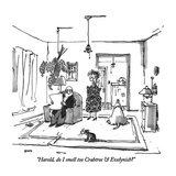 """Harold, do I smell too Crabtree & Evelynish"" - New Yorker Cartoon Premium Giclee Print by George Booth"