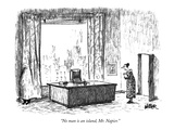 """""""No man is an island, Mr. Napier."""" - New Yorker Cartoon Premium Giclee Print by Robert Weber"""