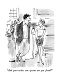 """And you—what star system are you from"" - New Yorker Cartoon Premium Giclee Print by Frank Modell"