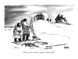 """There go the summer people, thank God."" - New Yorker Cartoon Premium Giclee Print by Robert Weber"