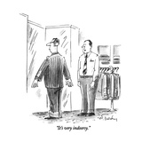 """""""It's very indoorsy."""" - New Yorker Cartoon Giclee Print by Mike Twohy"""