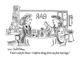 """I don't cook for Dave—I defrost things from my first marriage."" - New Yorker Cartoon Premium Giclee Print by Eric Teitelbaum"