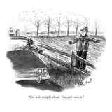 """One mile straight ahead.  You can't  miss it."" - New Yorker Cartoon Regular Giclee Print by Stan Hunt"