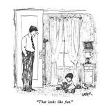 """That looks like fun."" - New Yorker Cartoon Premium Giclee Print by Robert Weber"