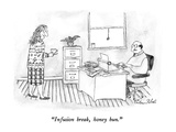 """Infusion break, honey bun."" - New Yorker Cartoon Premium Giclee Print by Victoria Roberts"