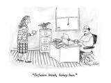 """Infusion break, honey bun."" - New Yorker Cartoon Premium Giclee Print by Victoria Roberts"