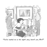 """You've marked me as this night's prey, haven't you, Miss"" - New Yorker Cartoon Premium Giclee Print by Gahan Wilson"