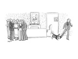 Dog tugging at the pants of a sheep who is not joining the conversation. - New Yorker Cartoon Premium Giclee Print by Charles Saxon