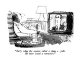"""Early today the senator called a spade a spade.  He later issued a retrac…"" - New Yorker Cartoon Premium Giclee Print by Joseph Mirachi"