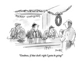 """Goodness, if that clock's right I gotta be going!"" - New Yorker Cartoon Premium Giclee Print by Frank Modell"