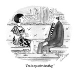 """I'm in my other handbag."" - New Yorker Cartoon Premium Giclee Print by Victoria Roberts"