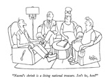"""Naomi's shrink is a living national treasure.  Isn't he, hon"" - New Yorker Cartoon Premium Giclee Print by George Price"