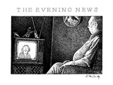 The Evening News - New Yorker Cartoon Premium Giclee Print by Ann McCarthy