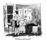 """Neil Simon, where are you"" - New Yorker Cartoon Premium Giclee Print by Robert Weber"