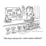 """How do you want your slice—with or without a ballerina"" - New Yorker Cartoon Premium Giclee Print by Bill Woodman"