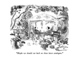 """""""Maybe we should cut back on those lawn catalogues."""" - New Yorker Cartoon Premium Giclee Print by James Stevenson"""