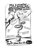 The Combination Lettuce Spinner-Nail Dryer-Coffee Maker will Make your Lif… - New Yorker Cartoon Giclee Print by Stephanie Skalisky
